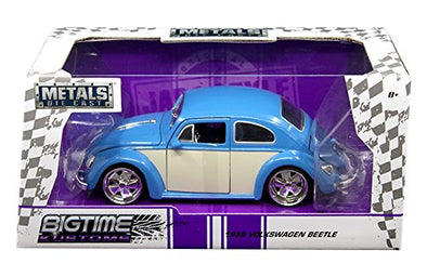 1959 Volkswagen Classic Beetle Diecast Model Car-Blue & White