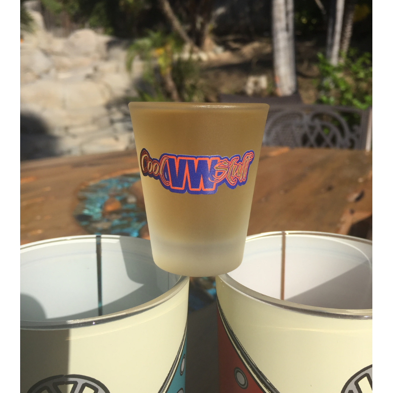 Brand New Cool VW Stuff Frosted Shot Glass