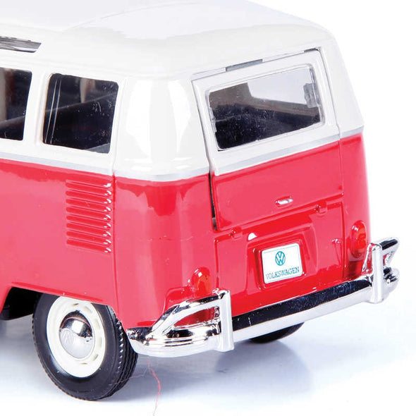 Volkswagen 21 Window Samba Van 1/25 Red - Maisto Diecast Model - Cool VW Stuff  - 4