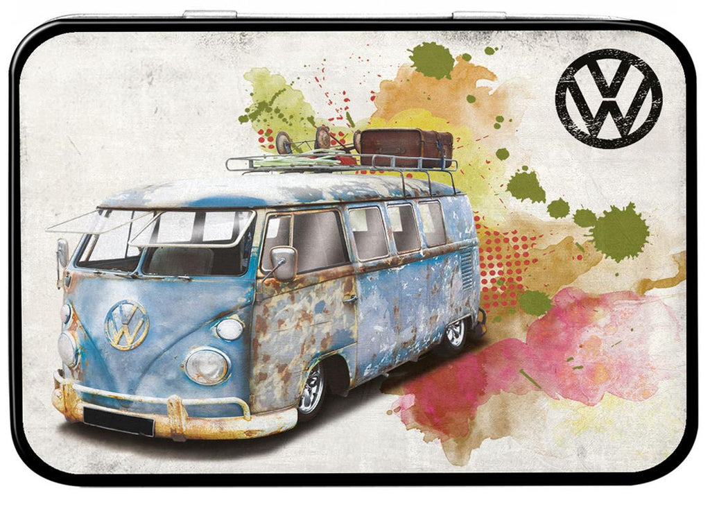 VW Camper Aged Grunge Keepsake Tin - Cool VW Stuff  - 1