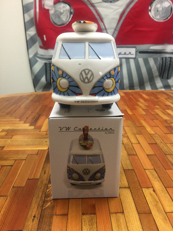 VW Bus Money Bank with Surfboard-Flower Power - Cool VW Stuff  - 5