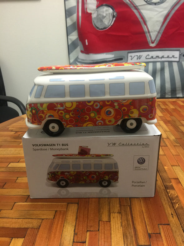 VW Bus Money Bank with Surfboard-Spirals - Cool VW Stuff  - 4