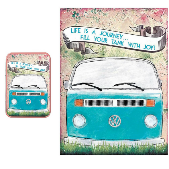 VW Life is a Journey Metal Wall Sign