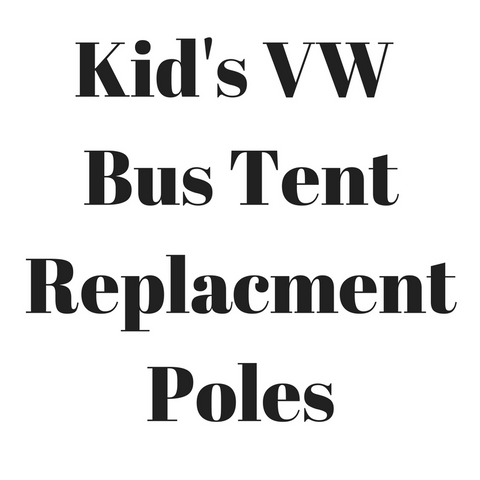 VW Camper Kid's Pop-up Tent Replacement Poles