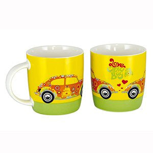 VW Beetle Coffee Mug-Love That Bug Yellow - Cool VW Stuff  - 1