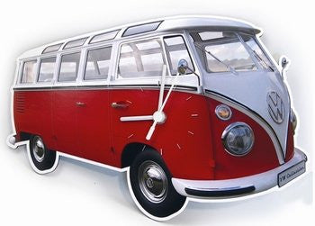 VW Bus Wall Clock-Classic Red - Cool VW Stuff  - 1