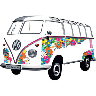 Wall Decal-T1 Bus Flower Power - Cool VW Stuff  - 1