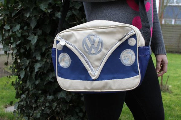 Camper Deluxe Shoulder Bag-Blue - Cool VW Stuff  - 5