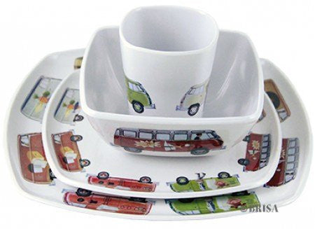 VW Melamine 4-Piece Tableware Set - Cool VW Stuff  - 1