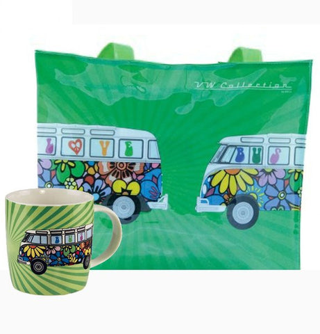 VW Flower Power Tote Bag & Coffee Mug - Cool VW Stuff  - 1
