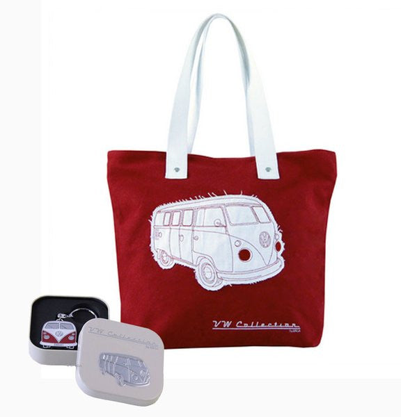 VW Red Shopper Tote Bag & Red Bus Key Ring - Cool VW Stuff  - 1