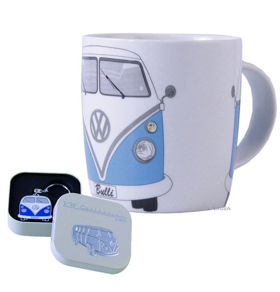 Blue VW Bulli Coffee Mug and Key Ring - Cool VW Stuff  - 1