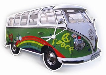 VW Bus Wall Clock-Peace - Cool VW Stuff  - 1