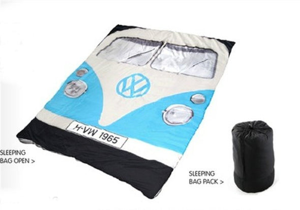 3 Season Blue Bus Sleeping Bag/Blanket - Cool VW Stuff  - 5