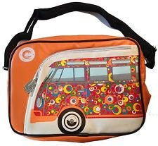 Camper Deluxe Shoulder Bag-Orange Bus Spirals - Cool VW Stuff  - 1