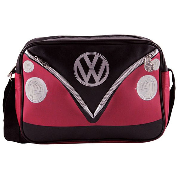 Camper Deluxe Shoulder Bag-Red & Black - Cool VW Stuff  - 3