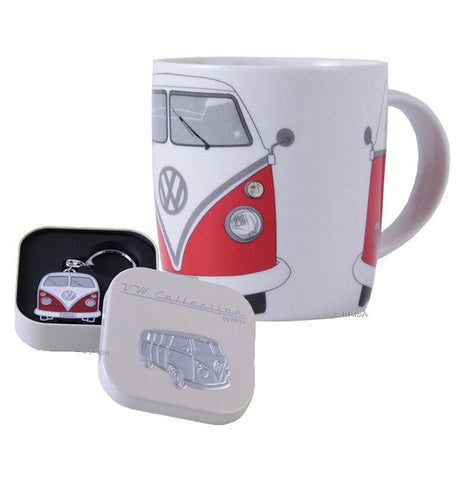Red VW Bulli Coffee Mug and Key Ring - Cool VW Stuff  - 1