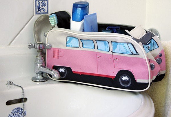 VW Bus Toiletry Bag-Pink - Cool VW Stuff  - 4