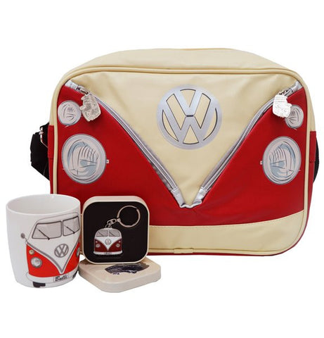 VW Red Bus Shoulder Bag with Key Ring & Coffee Mug - Cool VW Stuff  - 1