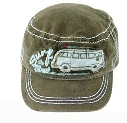 Surf the Streets Military Cap-Light Gray - Cool VW Stuff  - 1