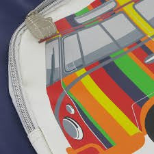 Camper Deluxe Shoulder Bag-Striped Bus - Cool VW Stuff  - 2