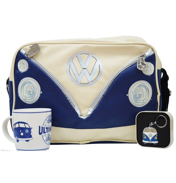 VW Blue Bus Shoulder Bag with Key Ring & Coffee Mug - Cool VW Stuff  - 1