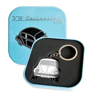Key Ring-White Beetle - Cool VW Stuff  - 1