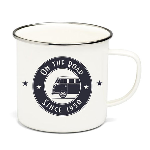 Enamel Coffee Mug-On The Road - Cool VW Stuff
