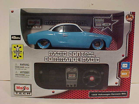 1966 Volkswagen Karmann Ghia Radio Control Vehicle 1:24 Scale - Blue - Cool VW Stuff  - 1