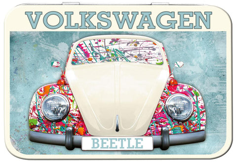 VW Beetle Paint Splat Keepsake Tin - Cool VW Stuff  - 1