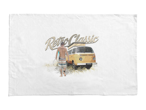 RetroClassic Tea Towel - Camper & Surf Dude - Cool VW Stuff  - 1