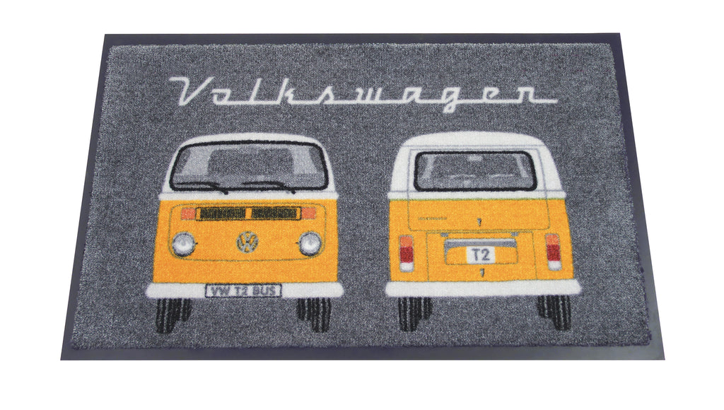 VW T2 Bus Doormat - Orange Front & Back Bay Window