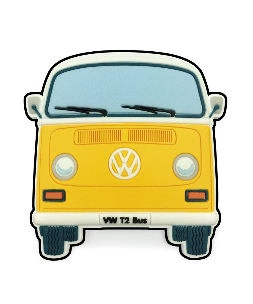 VW T2 Bay Window Bus Magnet - Front End Yellow