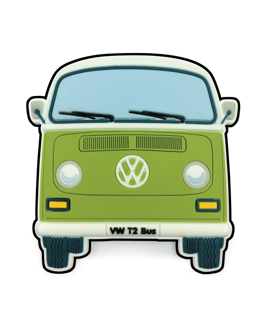 VW T2 Bay Window Bus Magnet - Front End Green