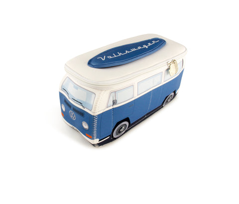 Volkswagen T2 Bay Window Bus Neoprene Toiletry/Lunch Bag-Large Blue