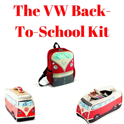 Red Back-To-School Gift Set - Small Backpack, Lunch Bag & Pencil Case