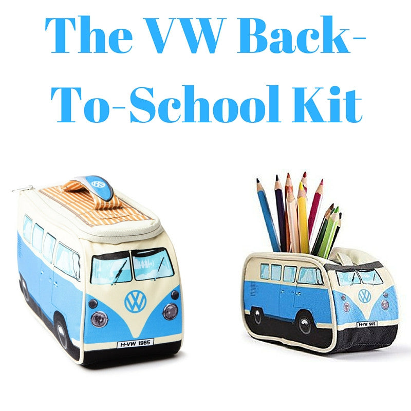Blue Back-To-School Gift Set - Lunch Bag & Pencil Case