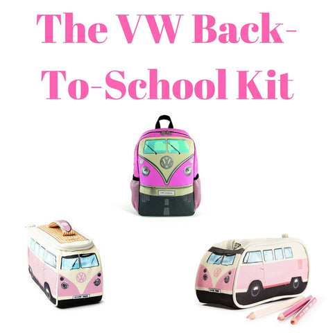 Pink Back-To-School Gift Set - Small Backpack, Lunch Bag & Pencil Case