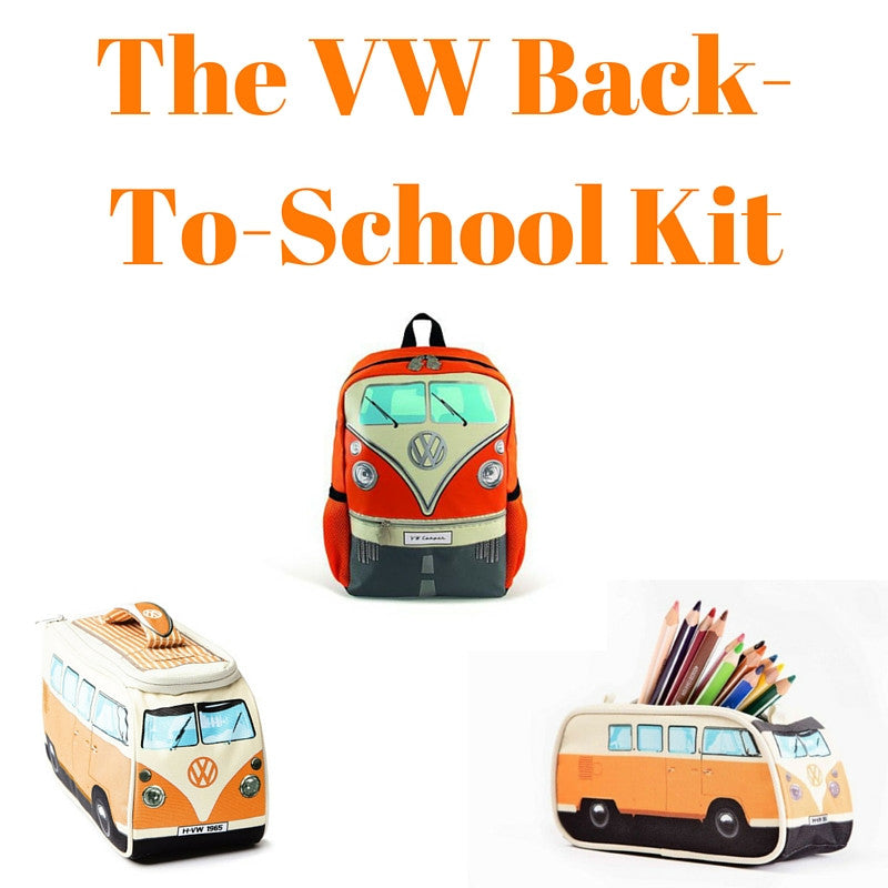 Orange Back-To-School Gift Set - Small Backpack, Lunch Bag & Pencil Case