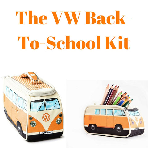 Orange Back-To-School Gift Set - Lunch Bag & Pencil Case