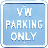 VW Parking Only Steel Sign - Light Blue