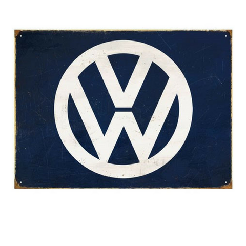VW Metal Wall Sign – The Classic VW Logo