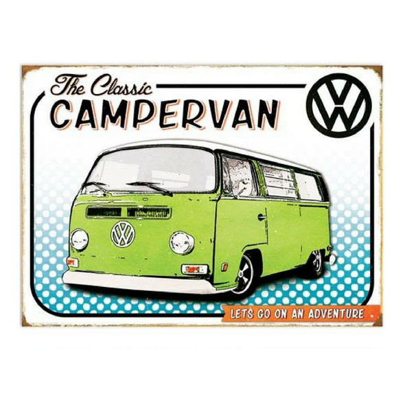 VW Metal Wall Sign – The Classic Campervan