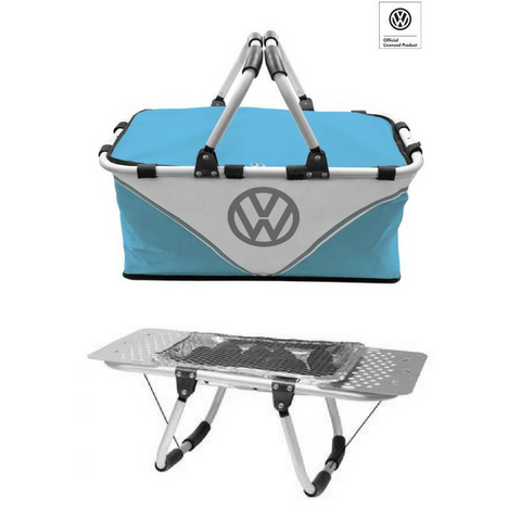 VW Volkswagen Barbecue BBQ Portable Hamper Charcoal