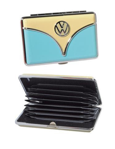 VW Bus Wallet/Business Card Holder-Blue & Tan
