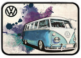 VW Camper Grunge LIght Blue Keepsake Tin - Cool VW Stuff  - 1