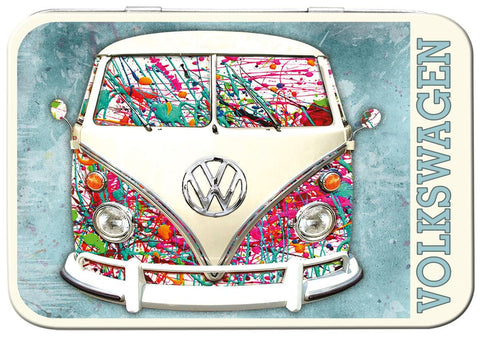 VW Camper Paint Splat Keepsake Tin - Cool VW Stuff  - 1