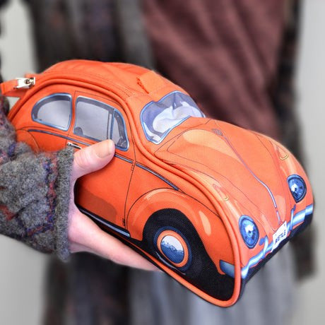 VW Beetle Toiletry Bag-Orange - Cool VW Stuff  - 6