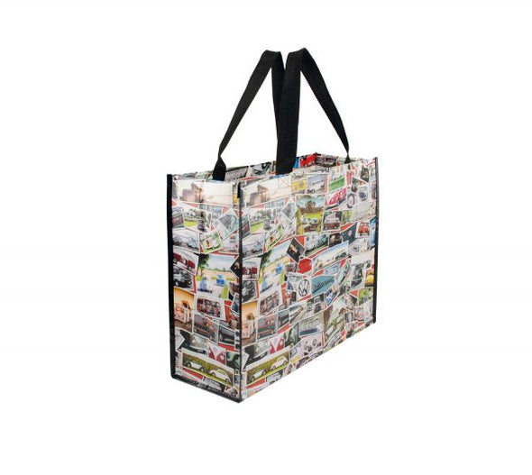 VW T1 Bus & Beetle Shopper Tote Bag - Stamps