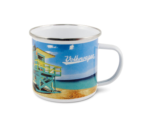 Volkswagen T1 Bus Enamel Coffee & Tea Mug - Beach Life CBUTA19